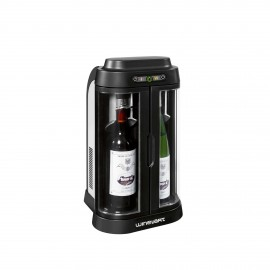 Wine Bar - Wine Art - Black & Silver - 2 bottles