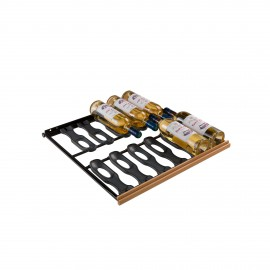 Sliding shelf - Wood front - 12 bottles