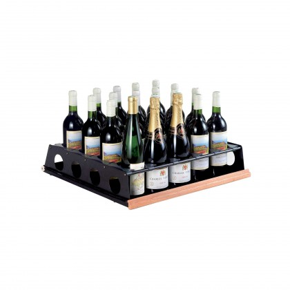 Tasting sliding shelf - 20 bottles upright