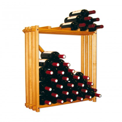 Modulocube – wine storage system in solid beech