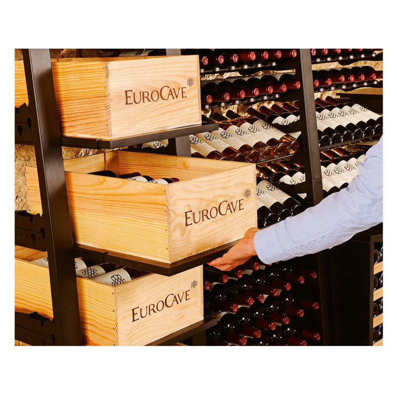 Wooden case for storing 12 bottles of wine eurocave - Caisse de rangement en bois ...