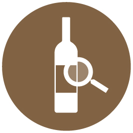 Use the search function to find your wine bottles inside the cabinet
