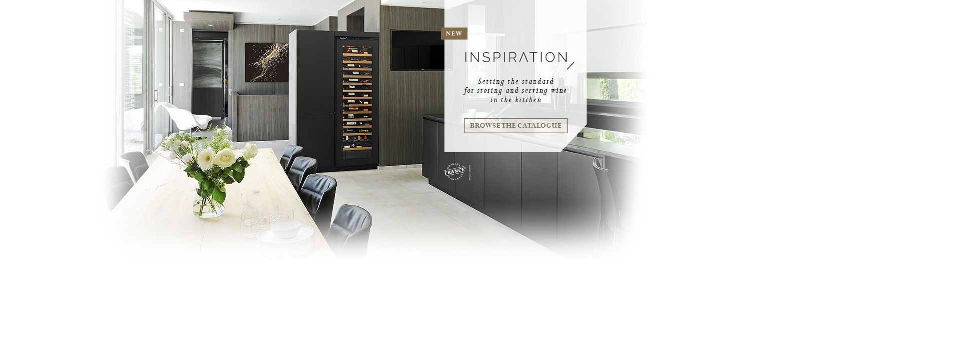New Inspiration range - flush-fitted or built-in wine cabinets for kitchen