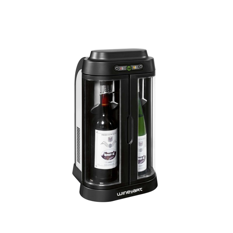 Wine Art Black Amp Silver Wine And Bar Cabinet 2 Bottles