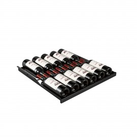 Sliding shelf - Main du Sommelier ACMS2B Glossy black - 12 bottles