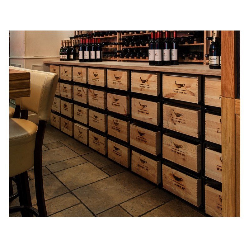 Wine cases modulorack wine cellar storage system for for Meuble caisse vin