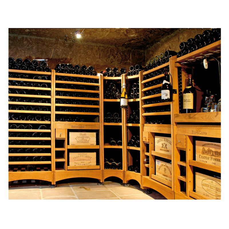 modulotheque wine cellar modular storage concept in solid oak eurocave. Black Bedroom Furniture Sets. Home Design Ideas