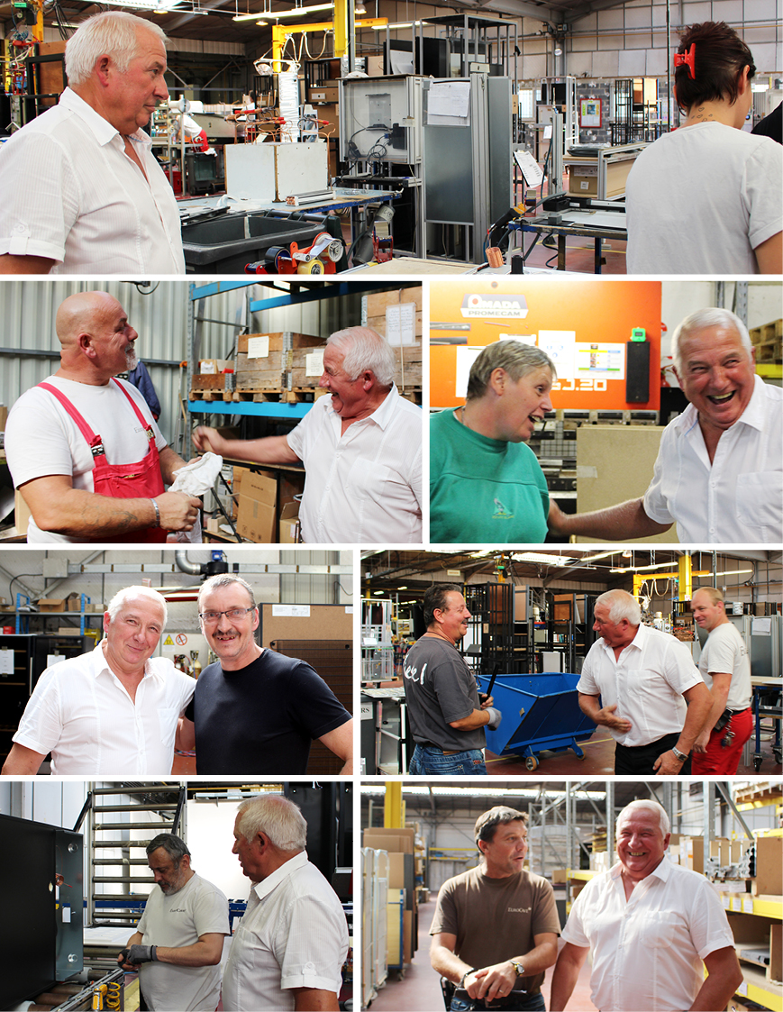 Photos taken during Mr Troclet's visit to the EuroCave factory in Fourmies - Northern France