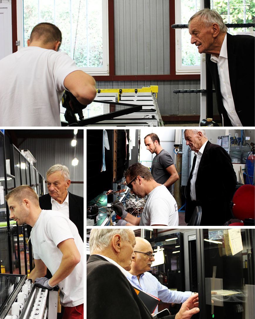 Photos taken during Mr Danis's visit to the EuroCave factory