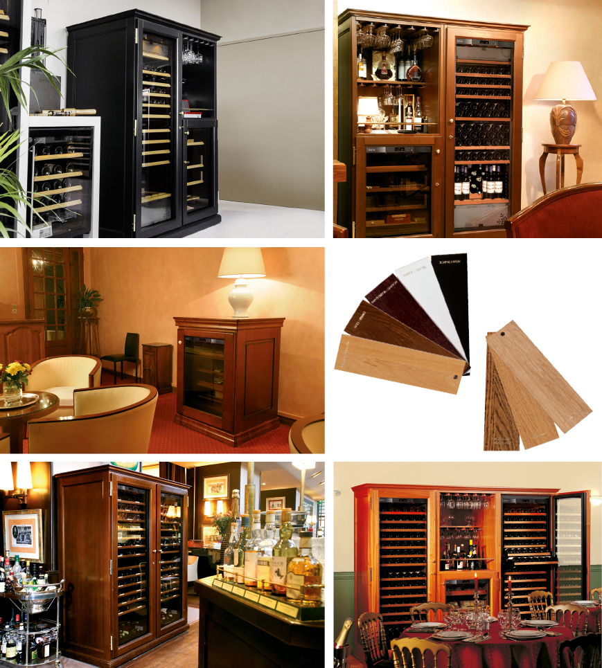 Furniture made by cabinet makers in solid wood to house your wine cabinet