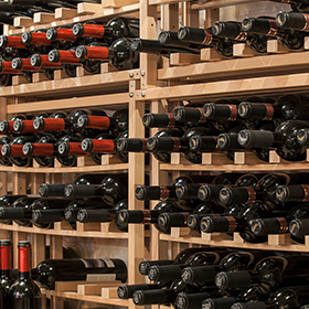 Wine racks for wooden wine case that can be assembled - ModuloCube