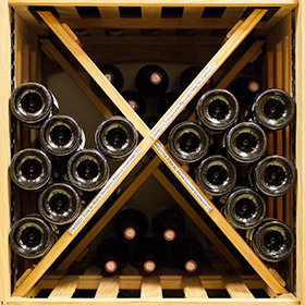 Wine racks adaptable according to the desire, the quantity and the use - Modulothèque