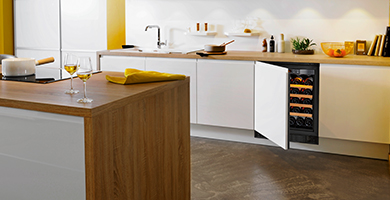 EuroCave Compact range - Small dimensions for this wine cabinet. You can fit this wine cabinet in your kitchen, under a worktop, in a wall...