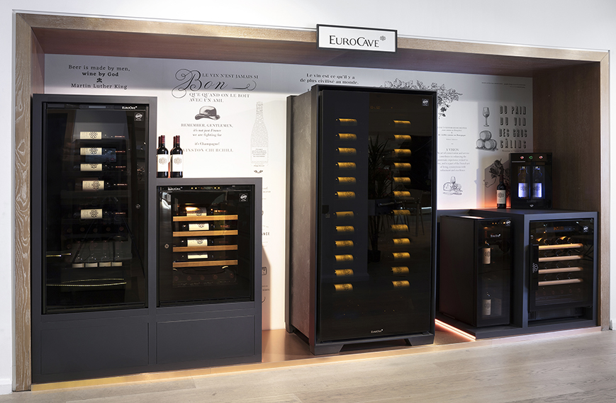 EuroCave corner at Harrods London - Now find all the EuroCave service or aging wine cabinets at Harrods