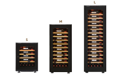 Wine cabinet - kitchen built-in appliances - dimensions and measurements according to its wine maturing or service funcionality.
