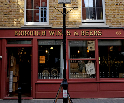 Borough Wine & Beers, Clerkenwell. 63 Exmouth Market - London