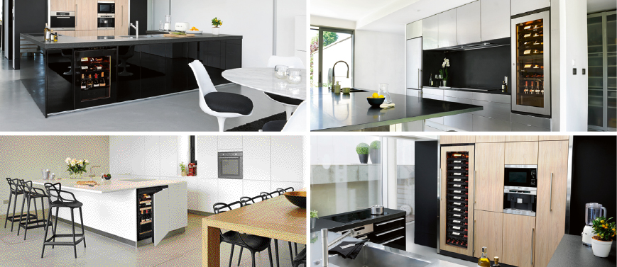 4 sizes for your kitchen: size dishwasher under worktop, oven format, half column or column in a cabinet of your kitchen furniture
