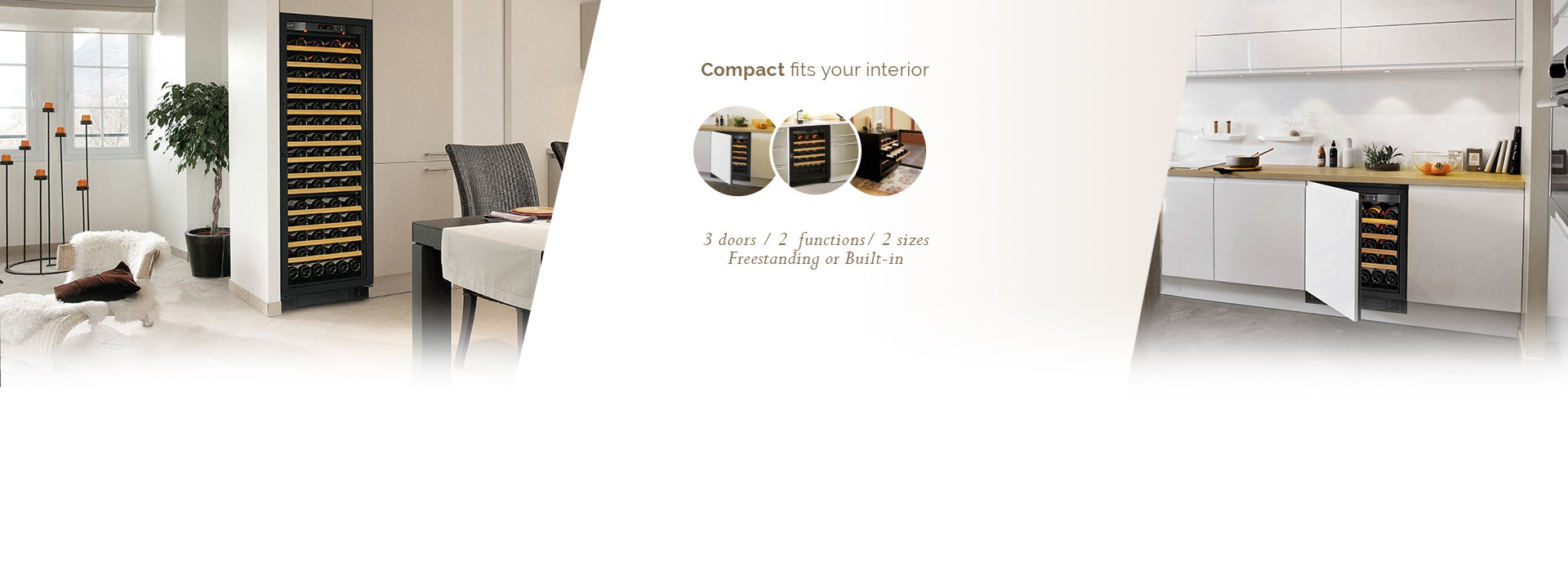 Ageing or service, flush-fitted or freestanding, Compact perfectly fits your interior. Discover it!